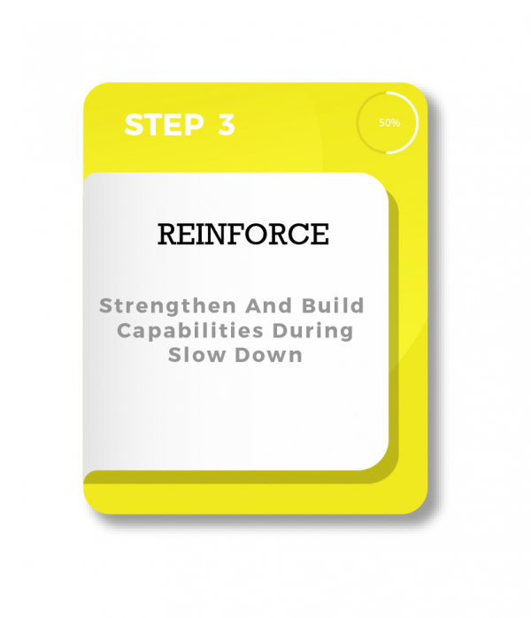 STRENGTHEN AND BUILD CAPABILITIES DURING SLOW DOWN